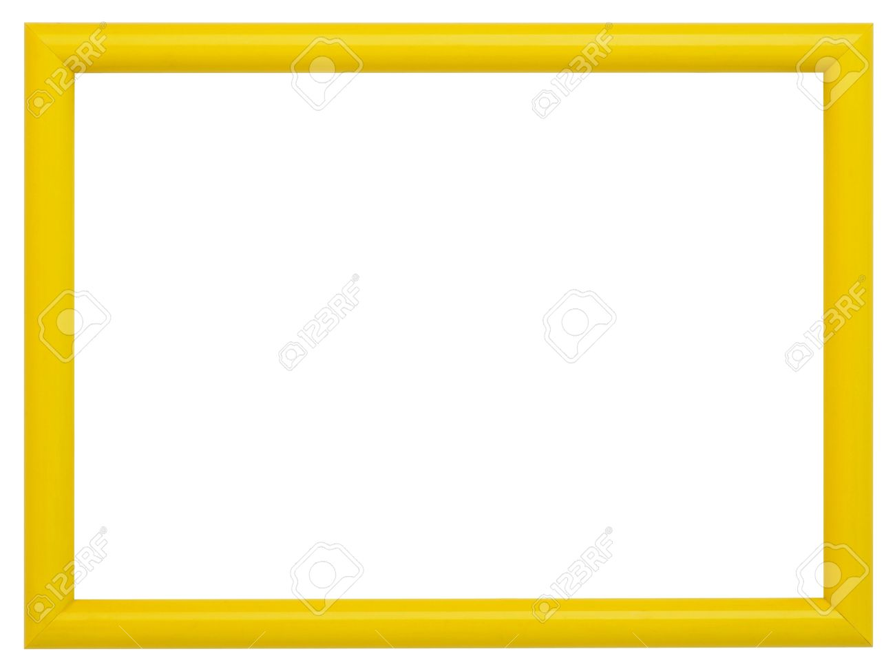 stock photo yellow frame isolated on white background