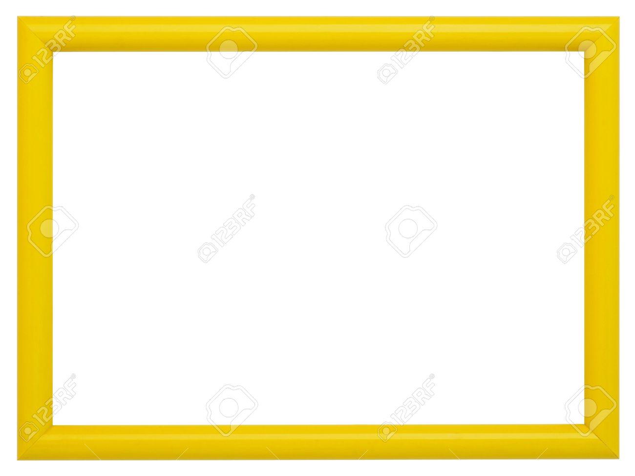 Gelber Rahmen Isoliert Auf Weißem Hintergrund Lizenzfreie Fotos ...