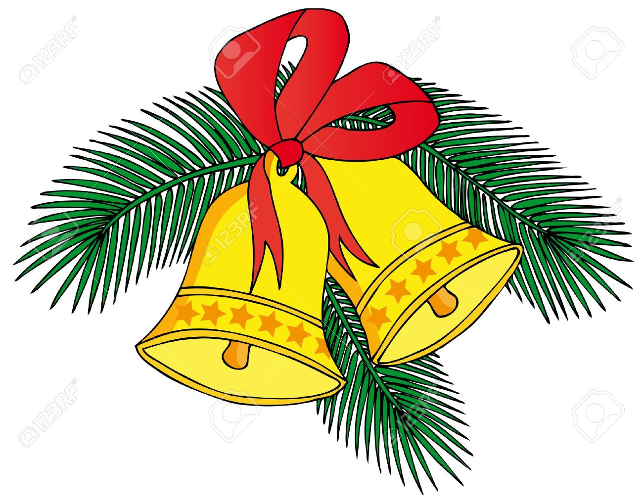 Two christmas bells - 15764865