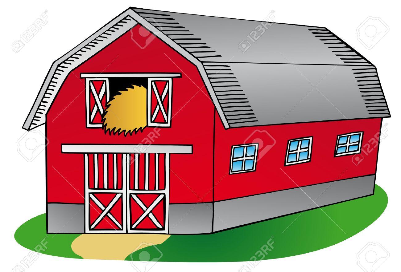 Barn On White Background