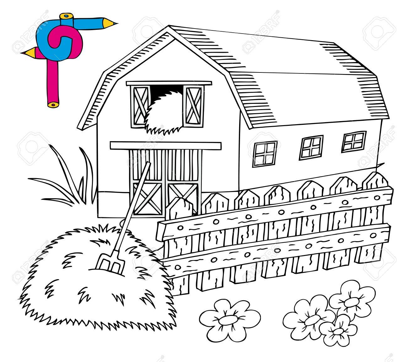 Fantástico Granero Para Colorear Imprimible Ideas - Dibujos Para ...