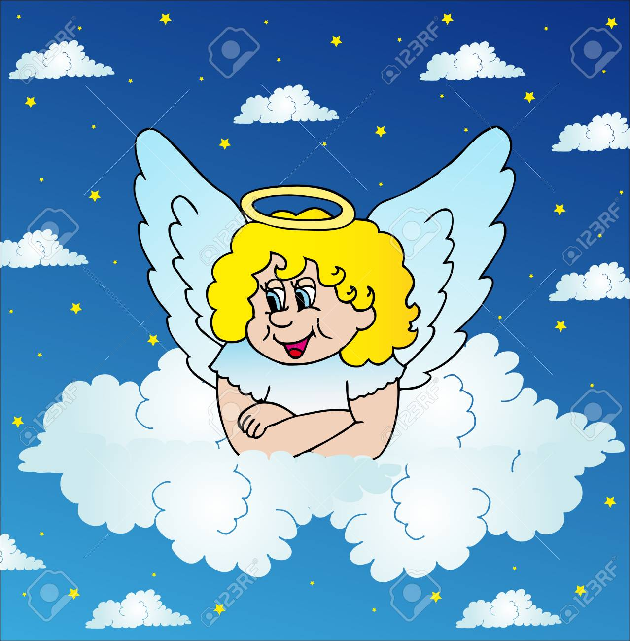 Angel on sky Stock Vector - 16667959