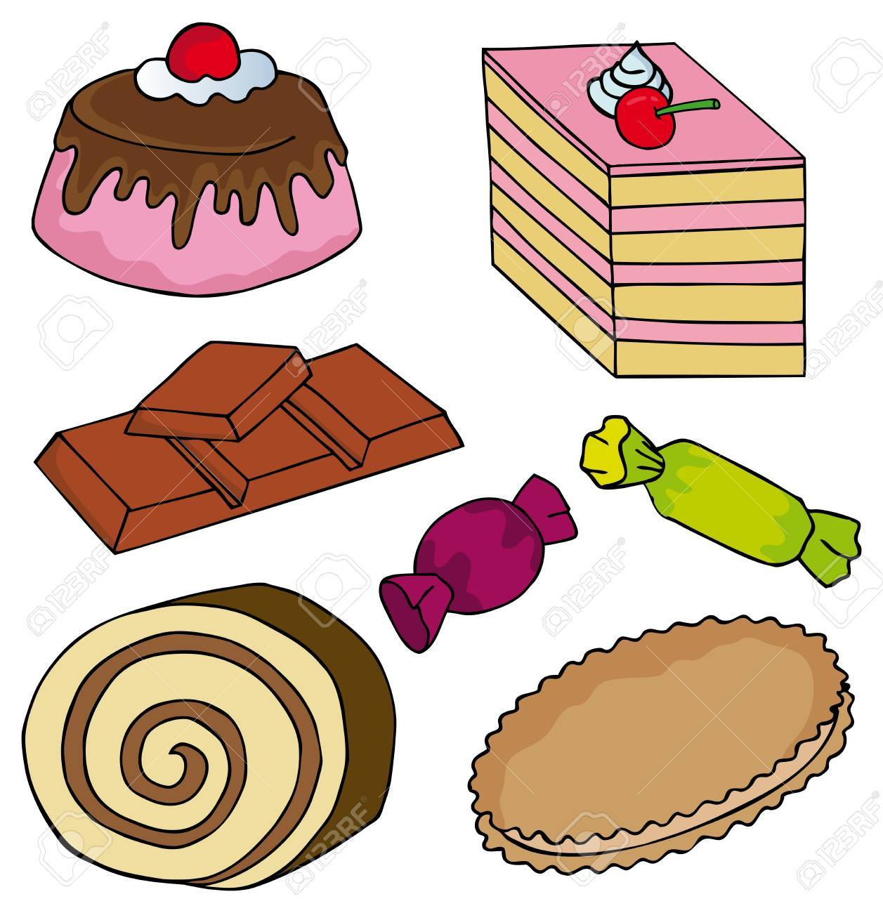 Various sweet collection - vector illustration. Stock Vector - 17341321