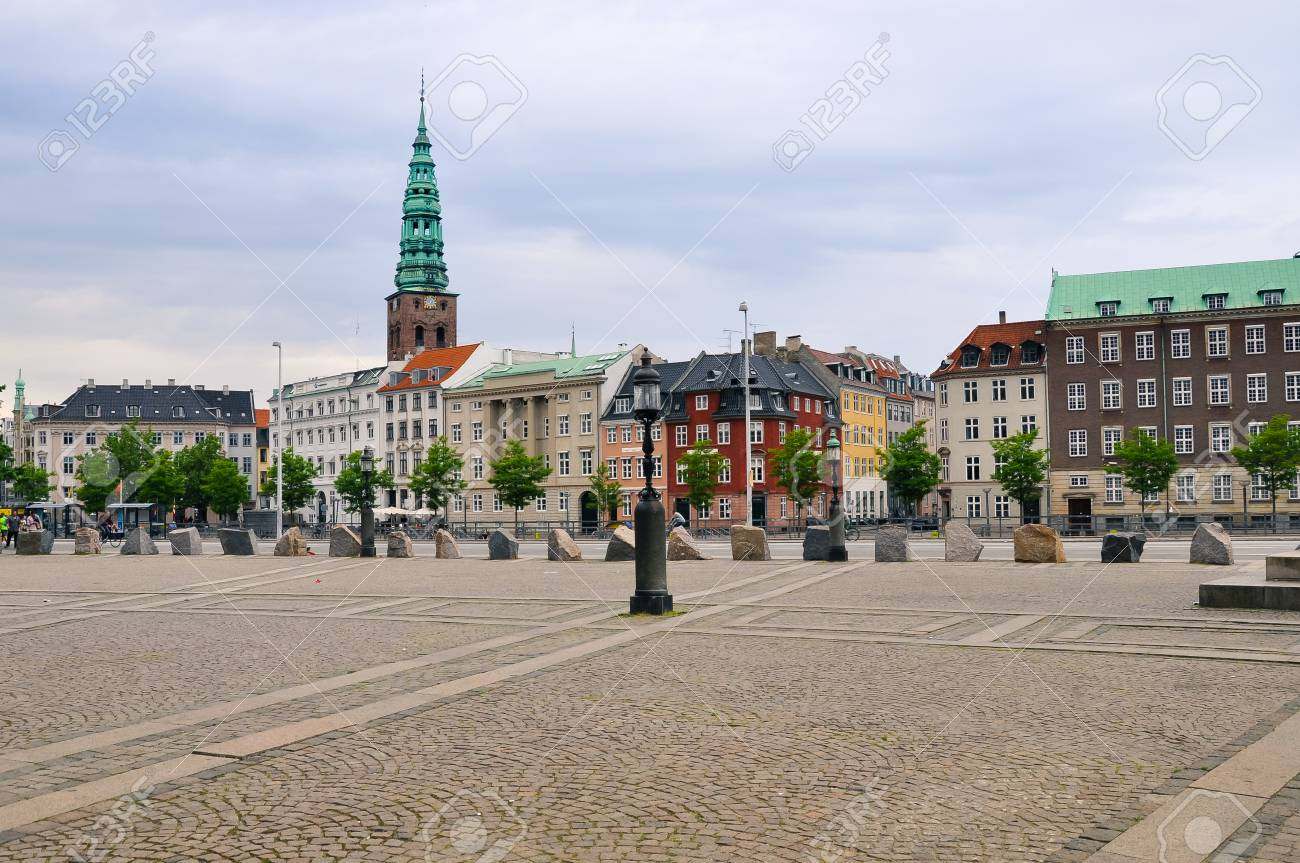 Scenic summer sunset in the Old Town of Copenhagen, Denmark - 86373020