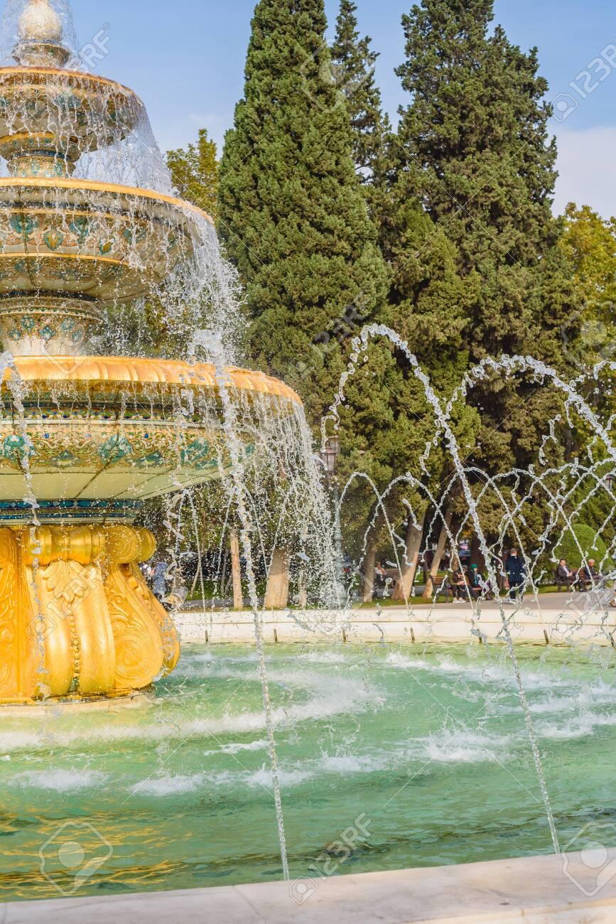 Close up of a fountain Baku Azerbaijan. - 126451196