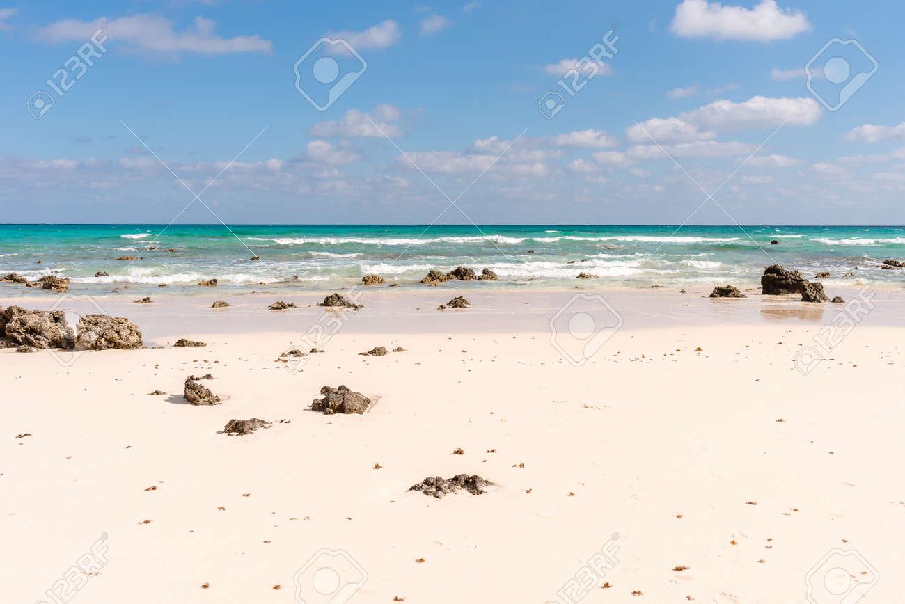 Rough waters of the Atlantic Ocean Corralejo, Fuerteventura - 153815715