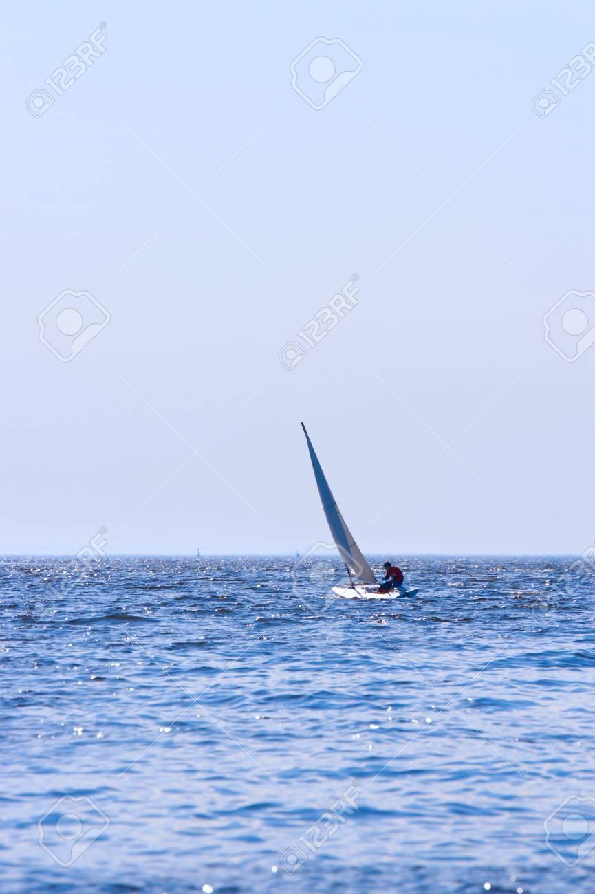 Regatta of sailing boats on the sea in solar windy day Stock Photo - 2993213