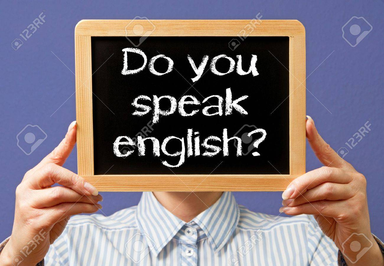 Do you speak english Stock Photo - 18101707