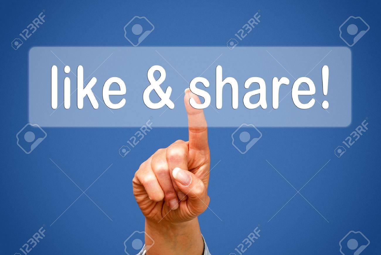 like and share Stock Photo - 18933831