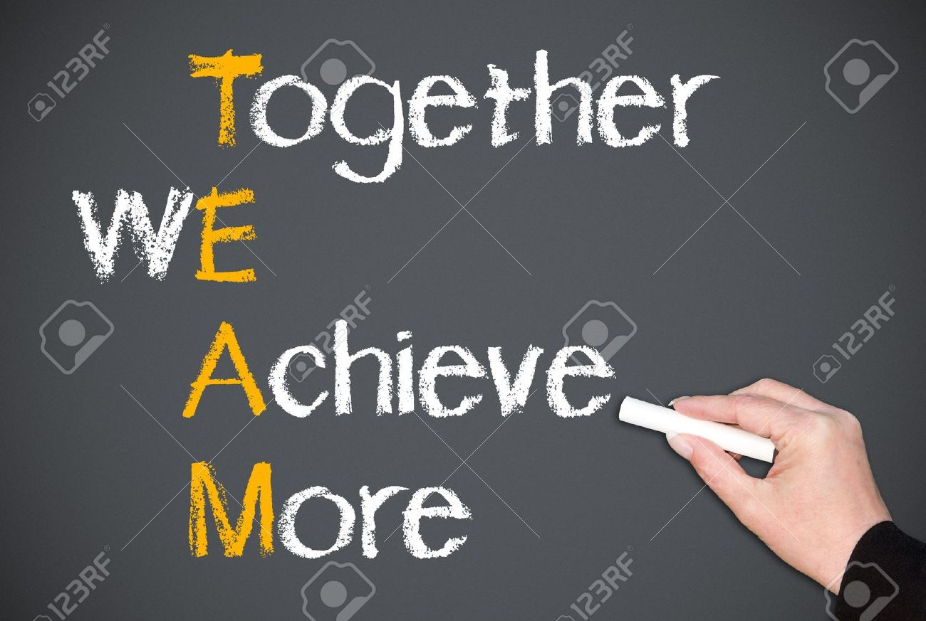 together we achieve more stock photo picture and royalty free image