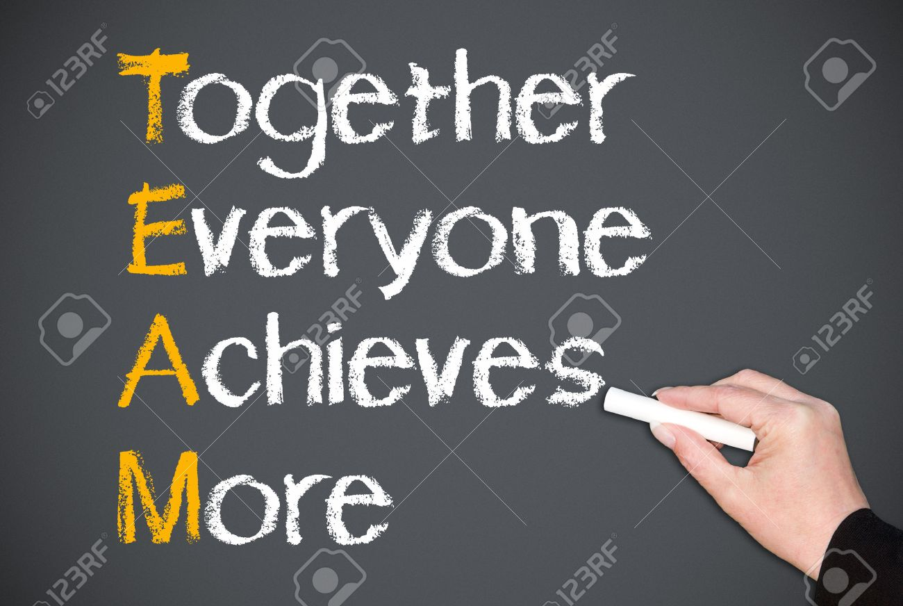 Together Everyone Achieves More - Team Concept Stock Photo - 22836408