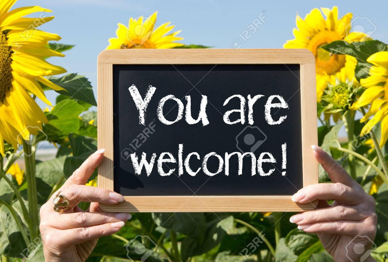 «Soyez sûrs que vous êtes les bienvenus»