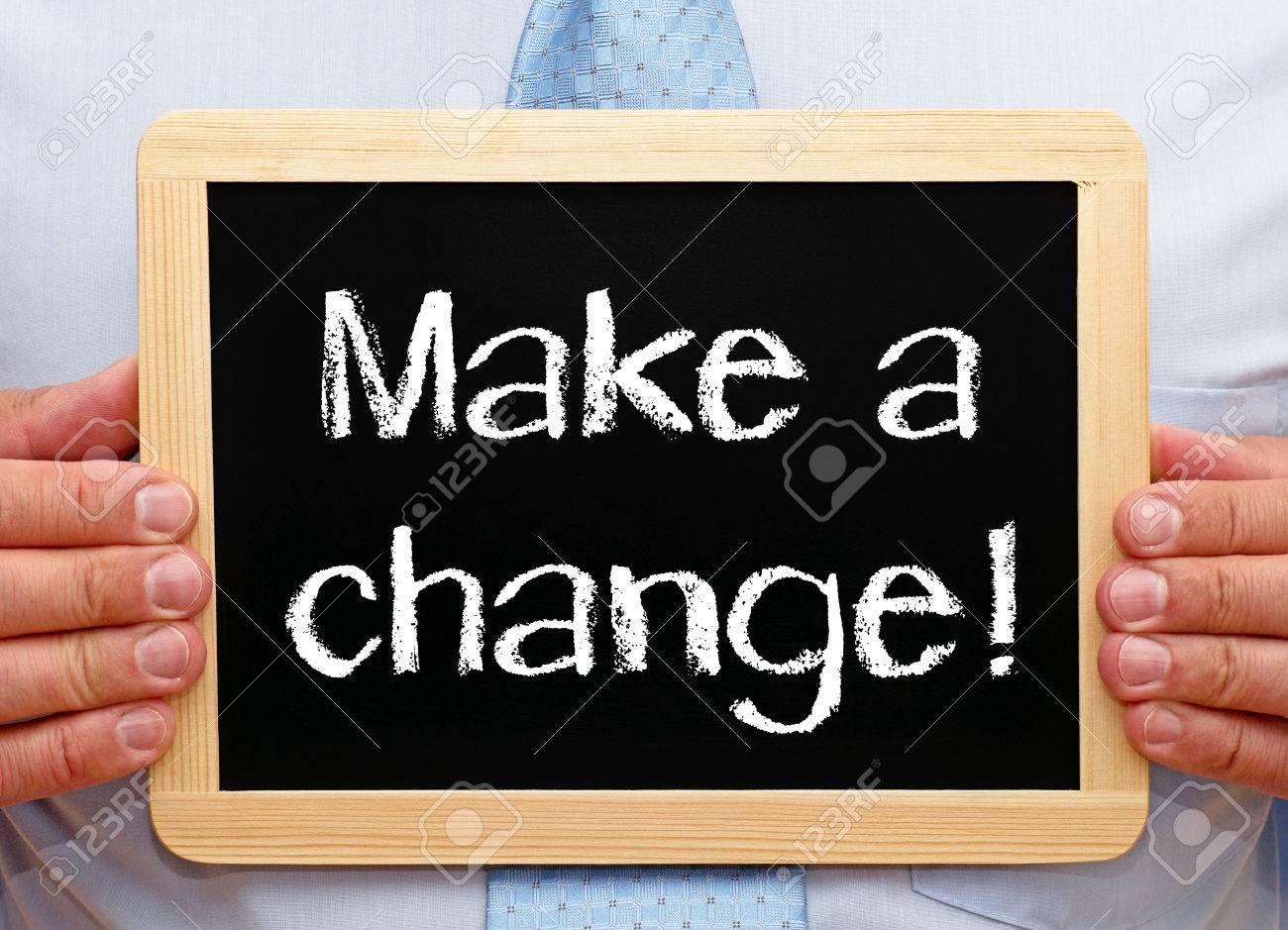 Make a change Stock Photo - 25519469