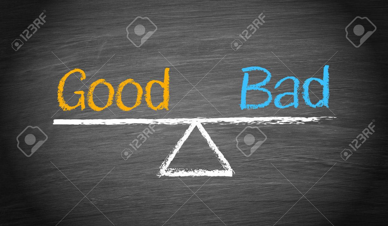 Good and Bad - Business Concept - 34613100