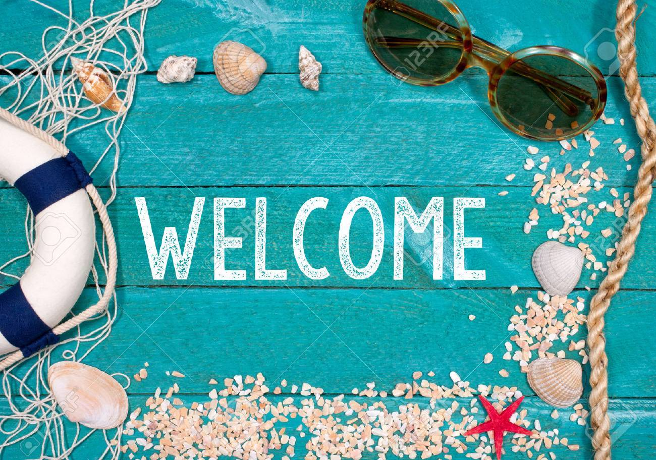Welcome to the Beach Stock Photo - 35865008