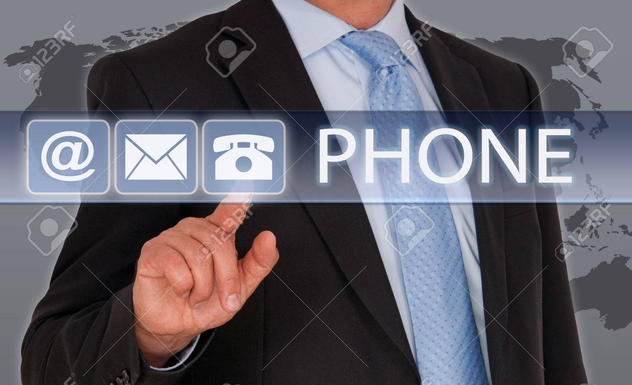 Contact by Phone Stock Photo - 36740786