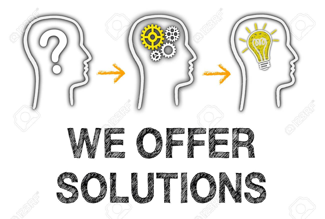 We offer Solutions Stock Photo - 36874154