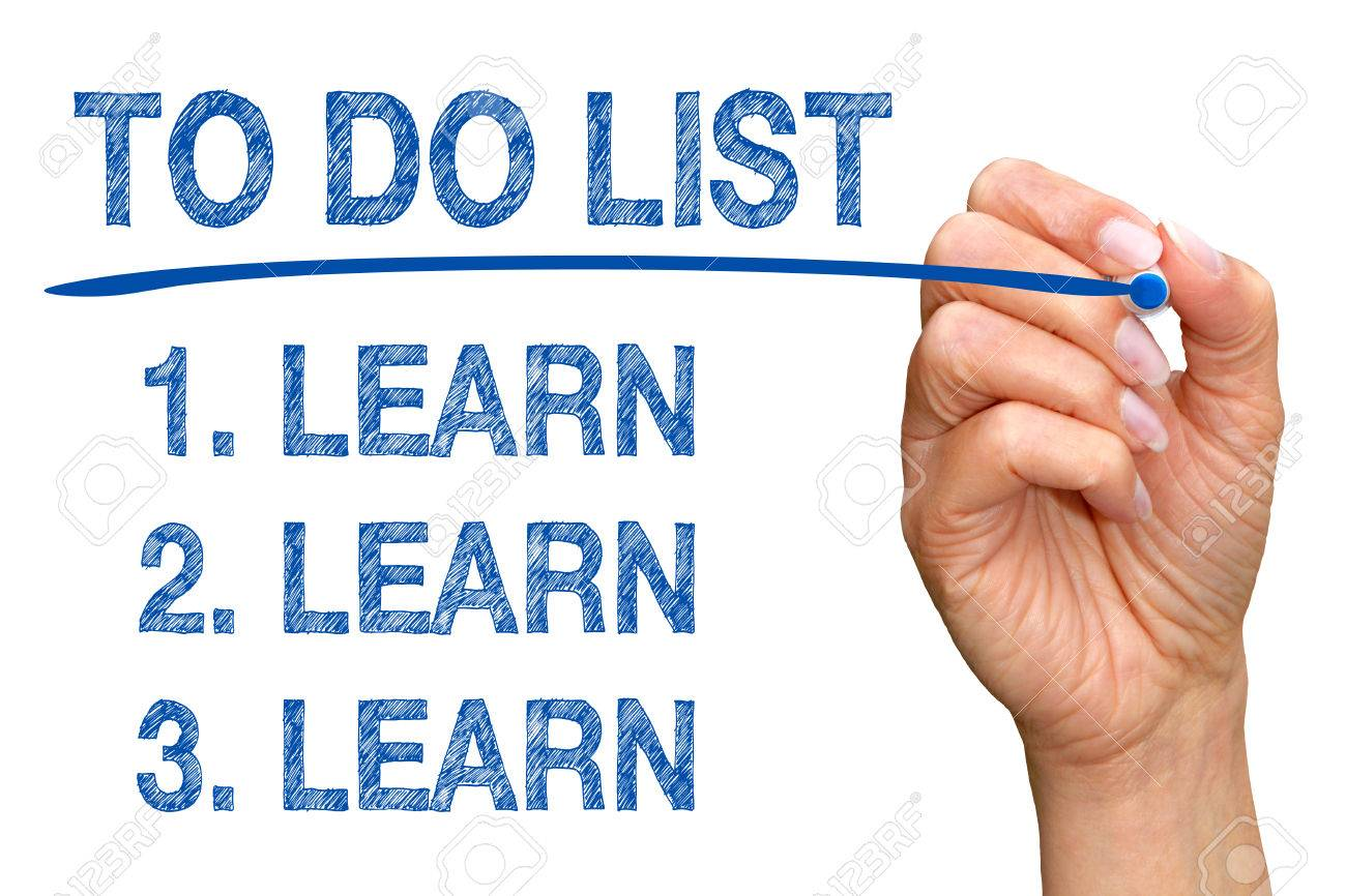 To Do List - Learn Learn Learn Stock Photo - 37676956