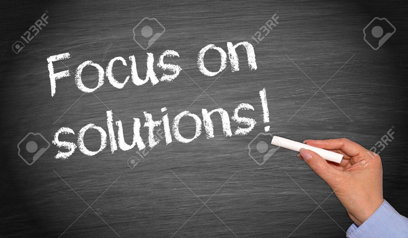 Focus on solutions ! Stock Photo - 42676206