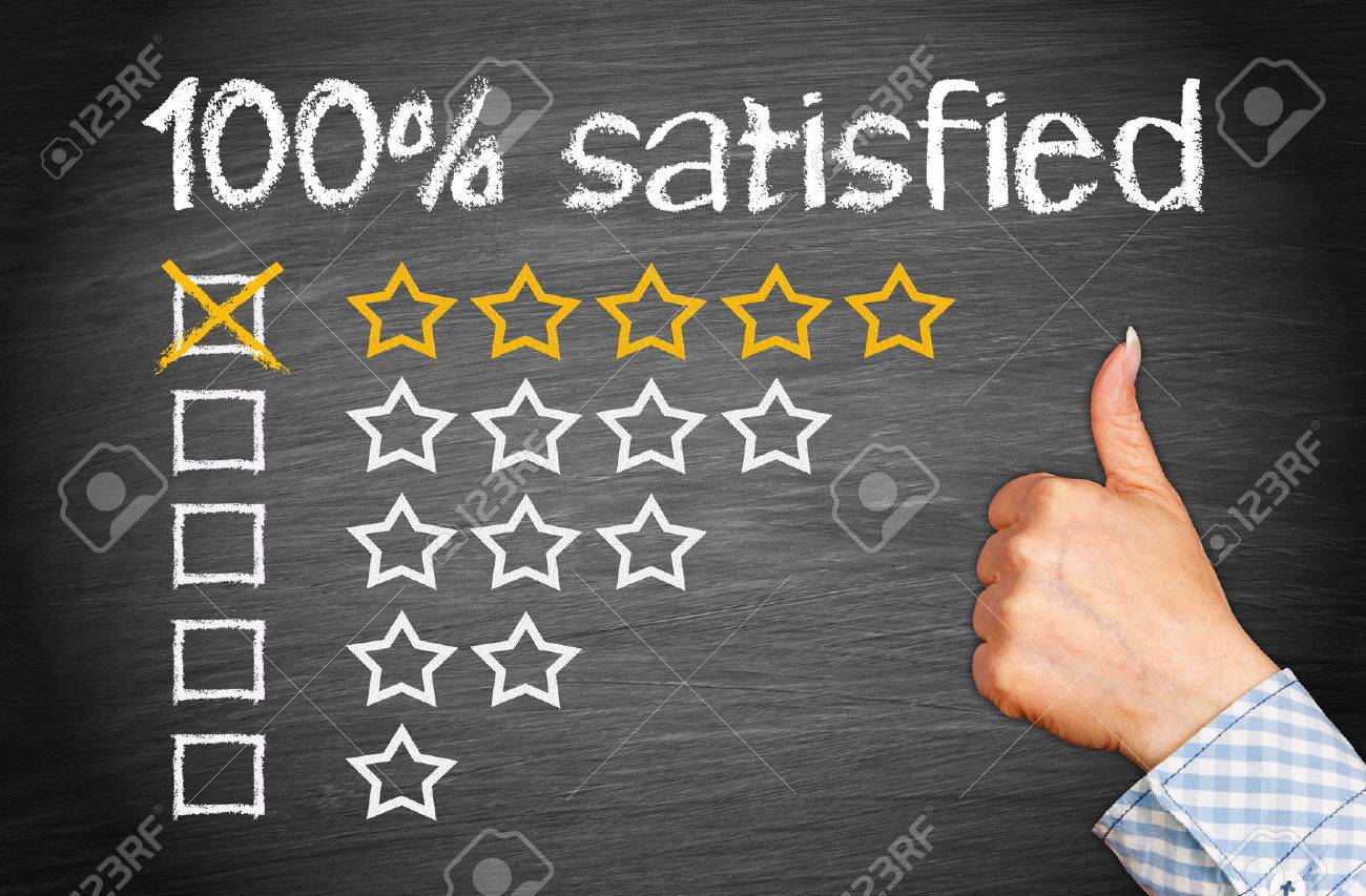 100 percent satisfied Stock Photo - 43953600