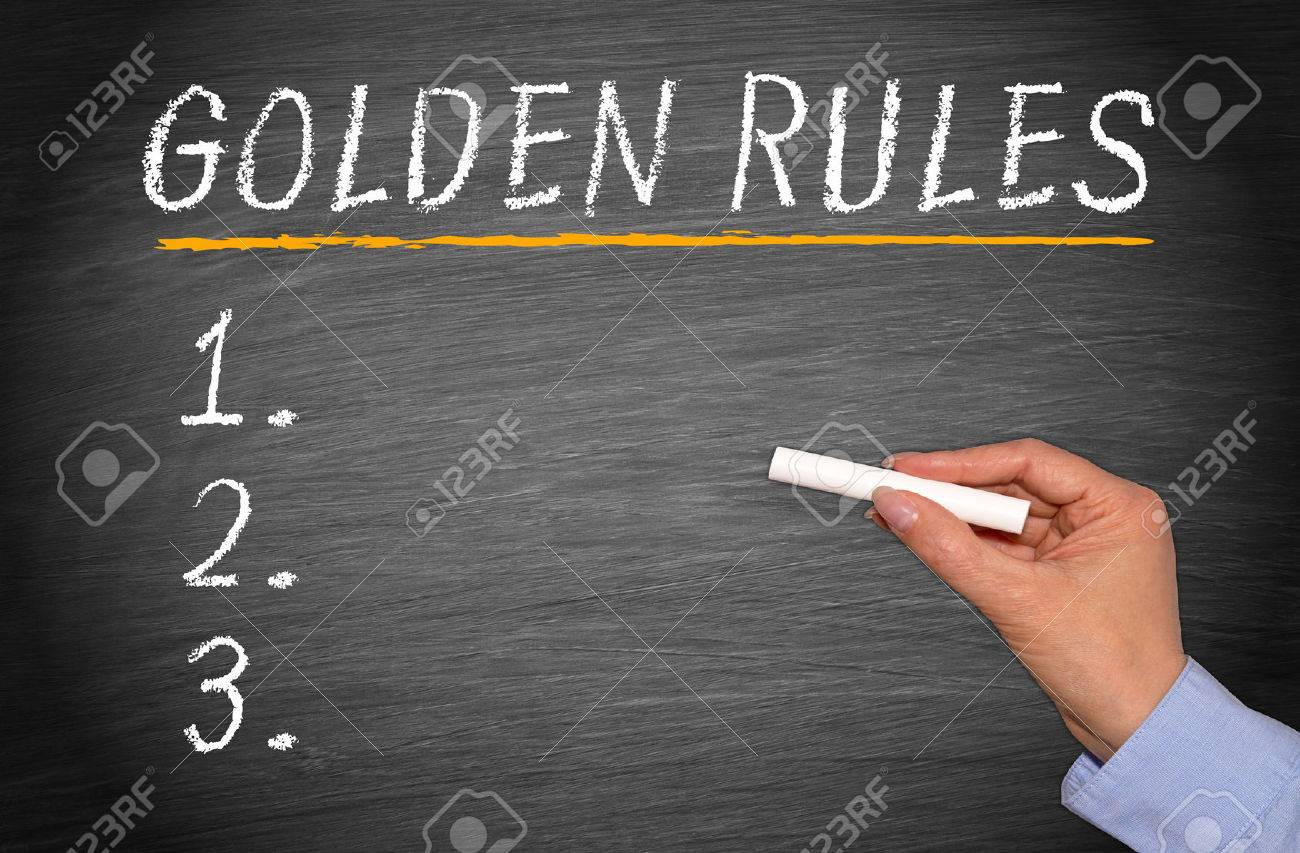 Golden Rules Stock Photo - 43953666