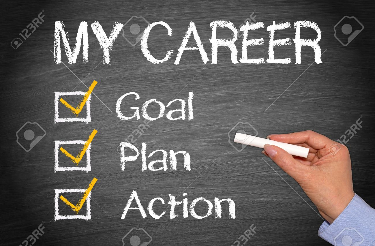carrer goal babysitting brochure creative resume templates my career goal plan action stock photo picture and royalty