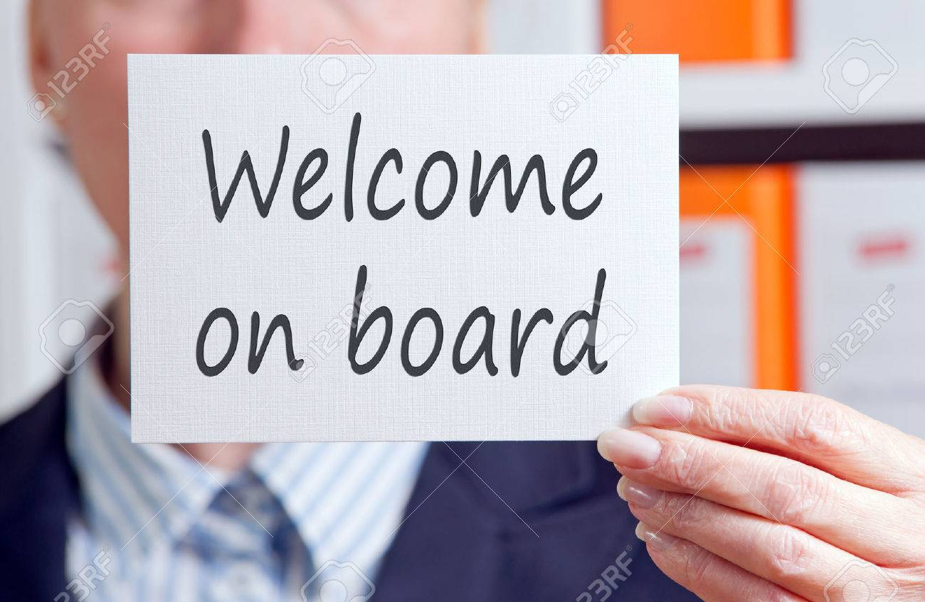 Welcome on board Stock Photo - 47408374