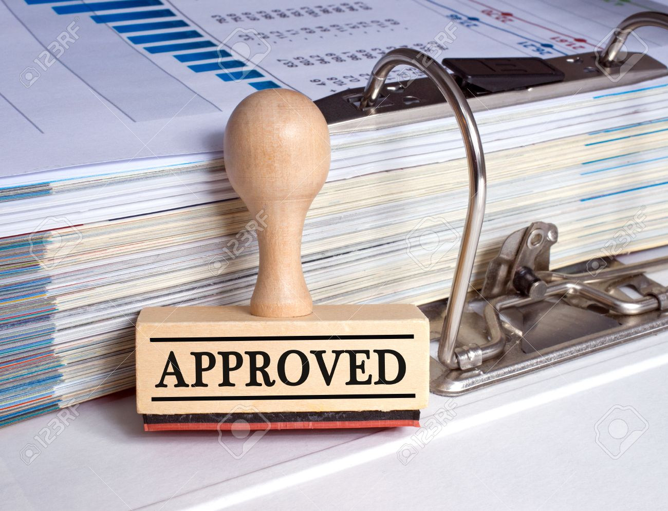 Approved - rubber stamp with text - 49218642