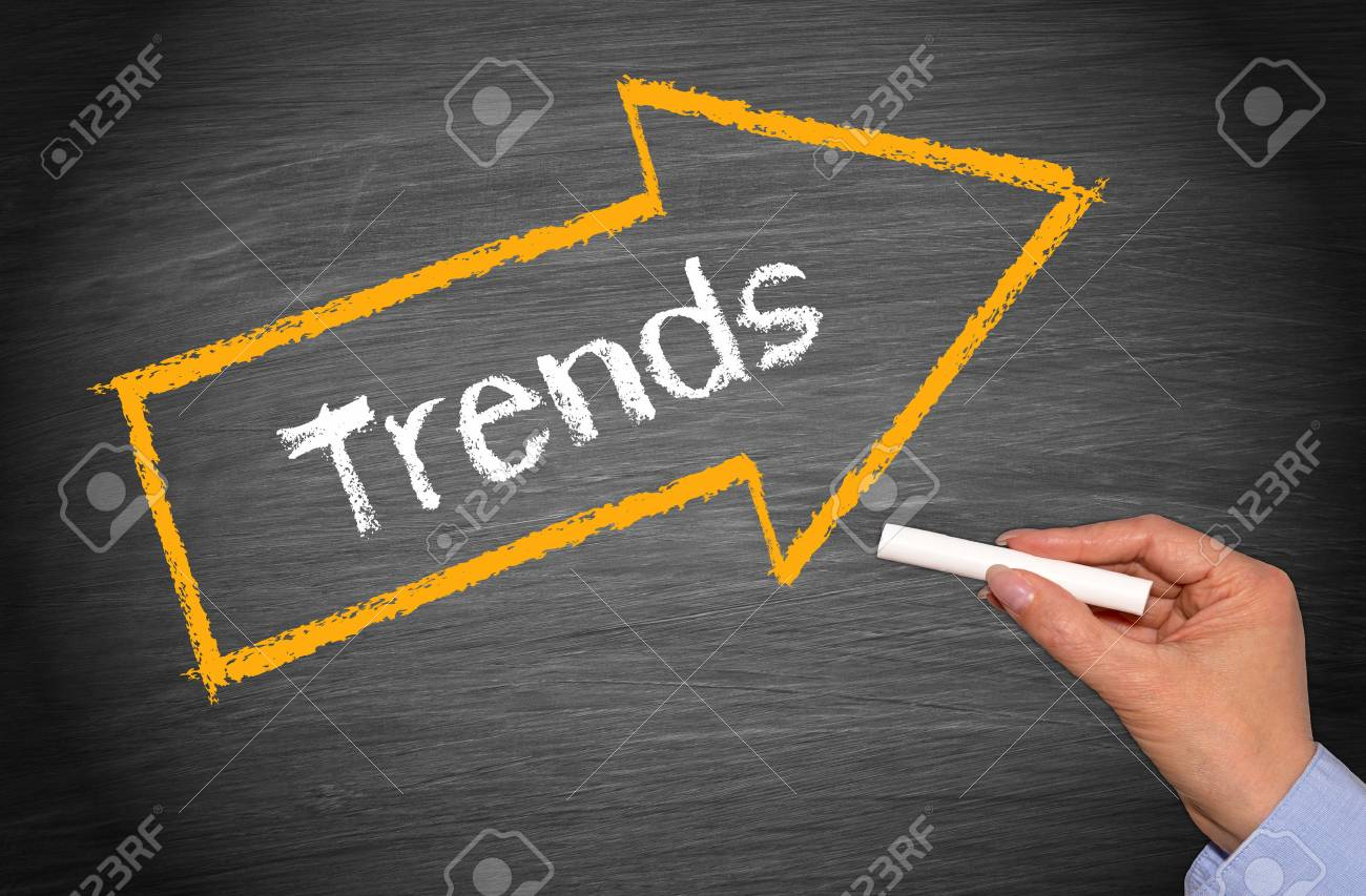 Trends - arrow with text - 50027520
