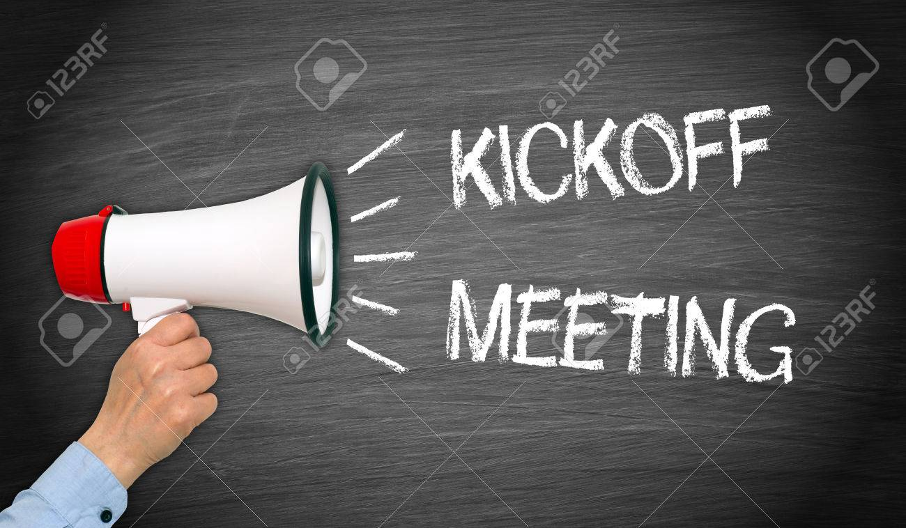 Kickoff Meeting - Megaphone with text - 70809109