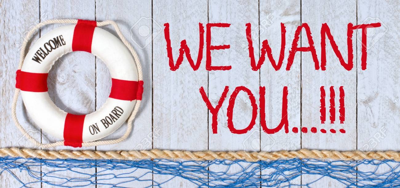 We want you, welcome on board - 82776256