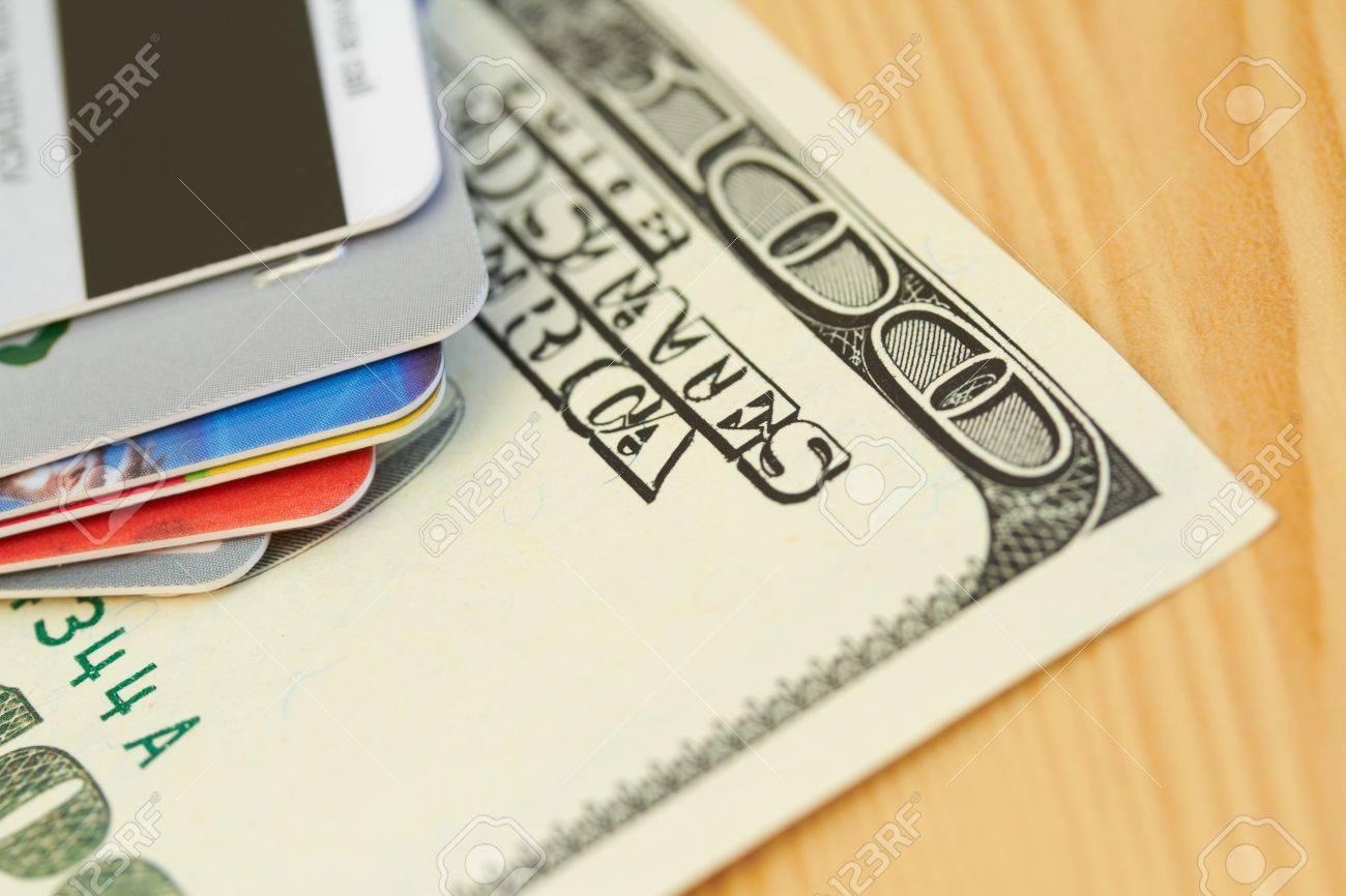 Credit card and dollar close-up Stock Photo - 17428903