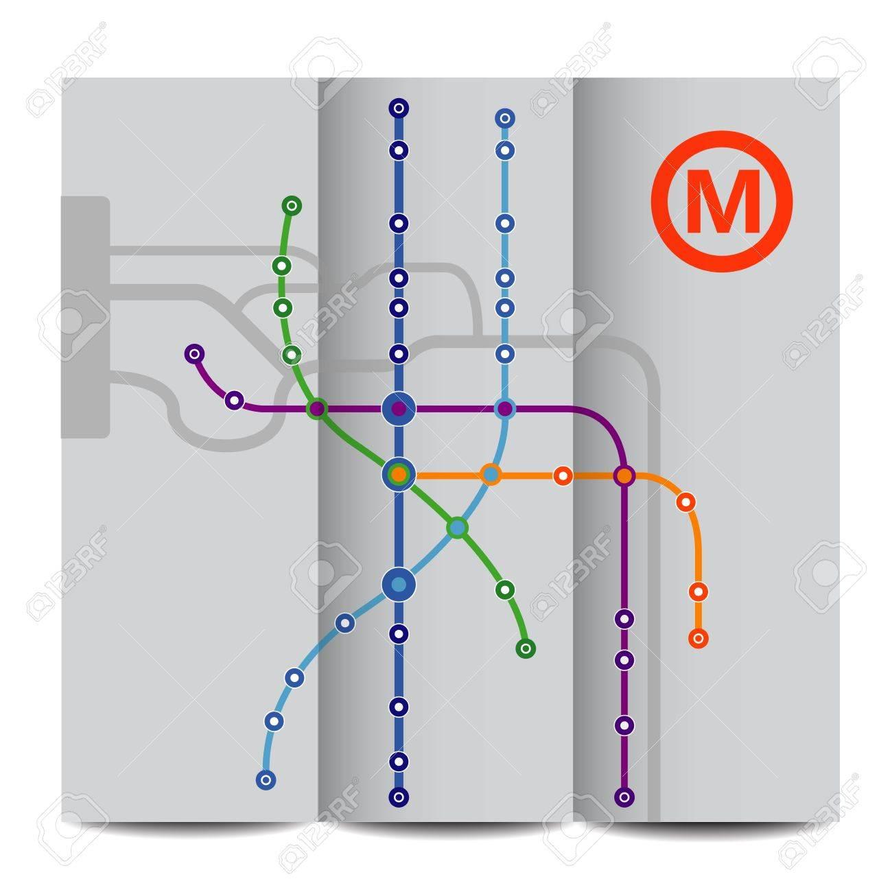 Abstract background of vintage metro scheme - 17876106