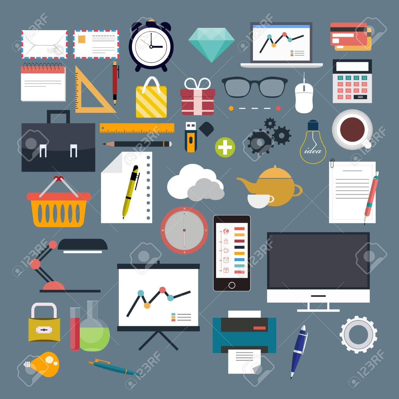 Business, Web, Internet, flat, vector - 30669116