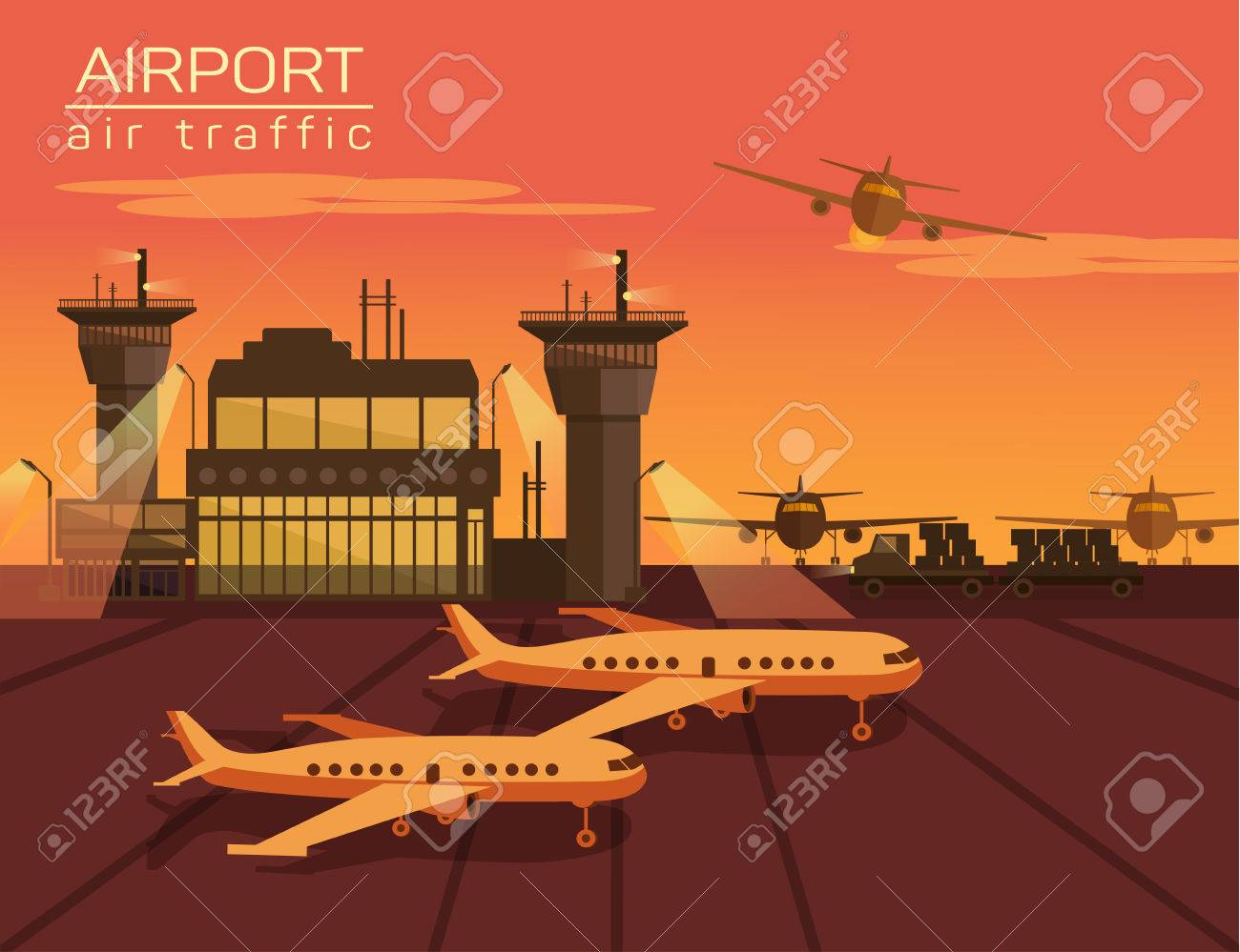 Vector illustration of airport - 42151118