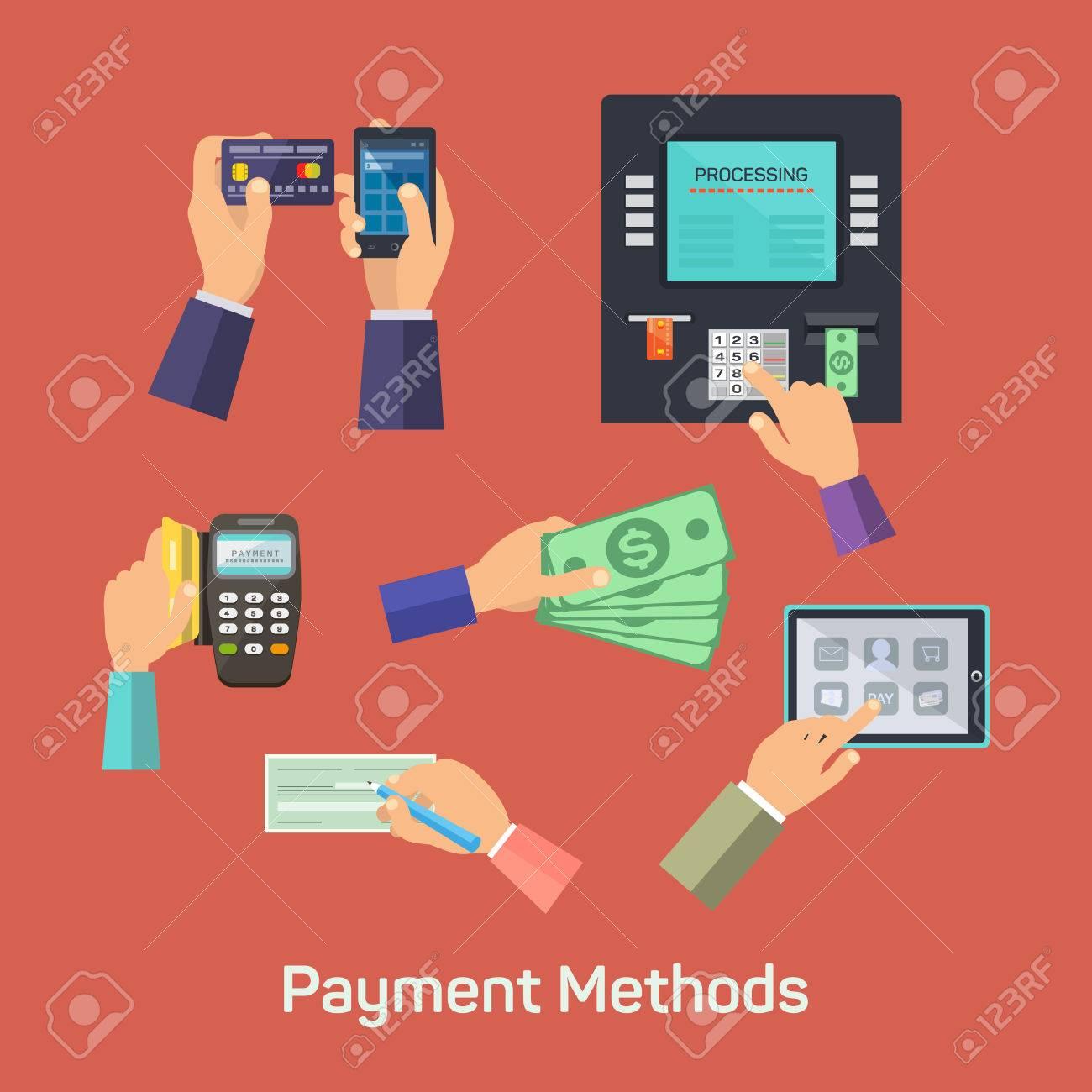 Vector possibilities of payment methods - 42151416