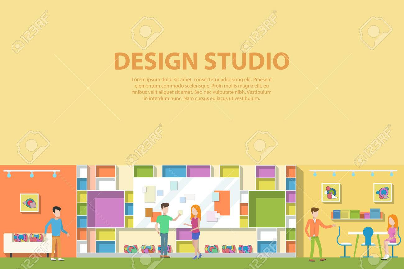 Creative-Grafik-Studio Design-Interieur. Kreative Künstler Corporate ...