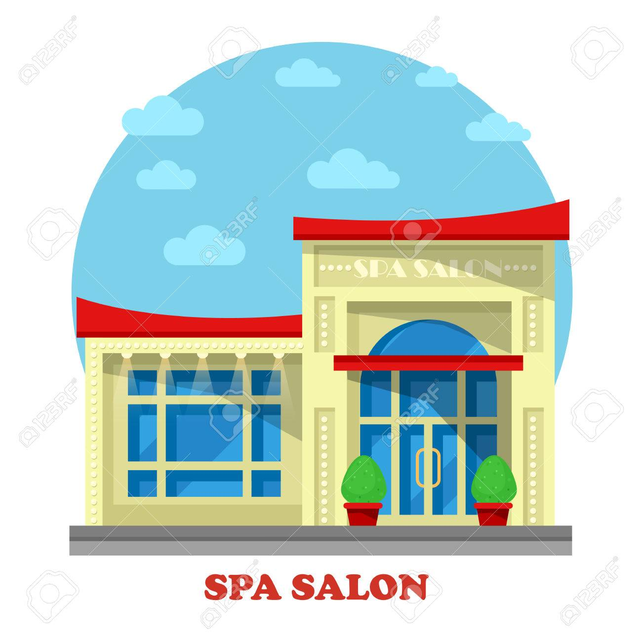 Spa Or Beauty Salon Parlor Parlour Building Construction For Massage And Peeling