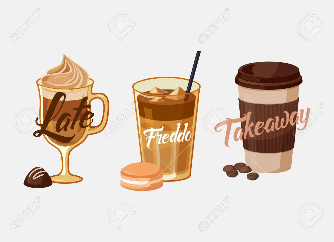 Préférence Latte Glacé De Café Ou De Moka Au Chocolat Et Freddo Dans Le Style  GG64
