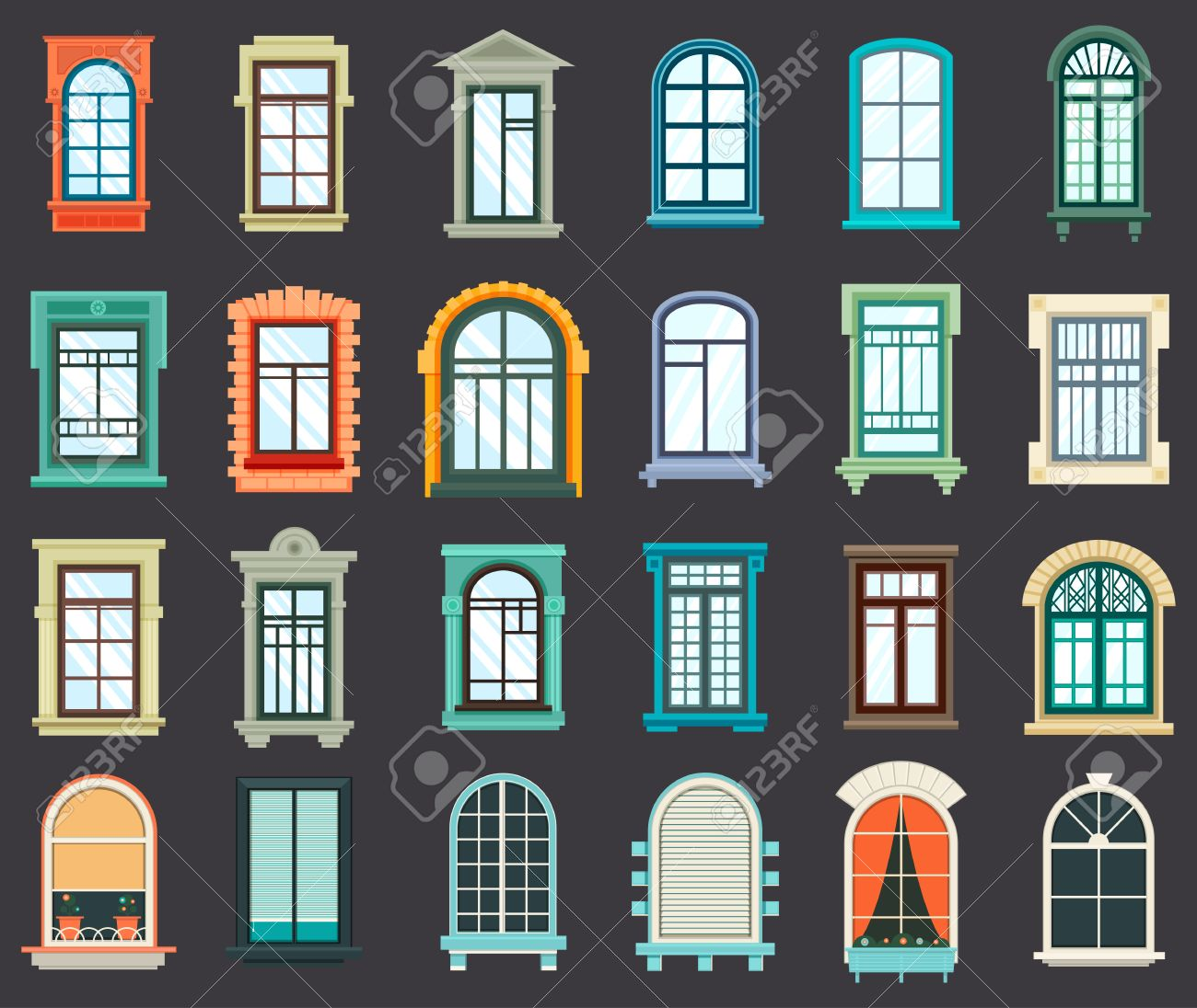 House windows frame design - Old Or Retro Room Or House Wood Window Frames Exterior View House Wall Wooden Or