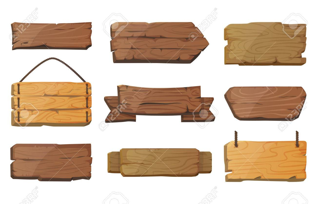Blank or empty west signboards or wood plank - 77744600