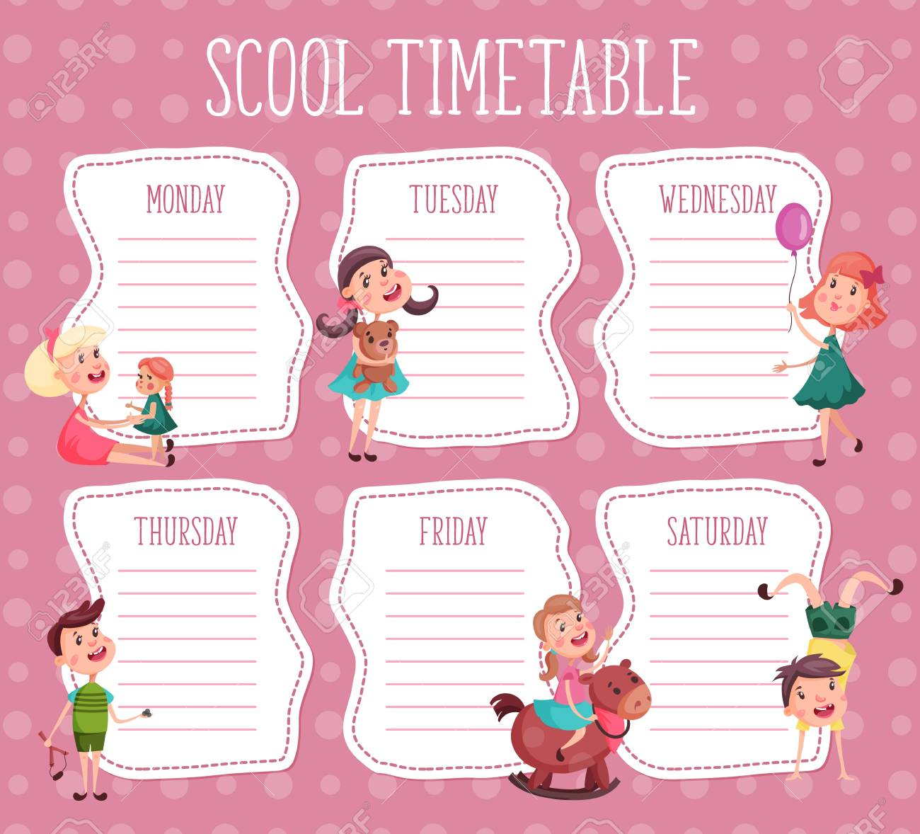 Design Template for school timetable - 88883555