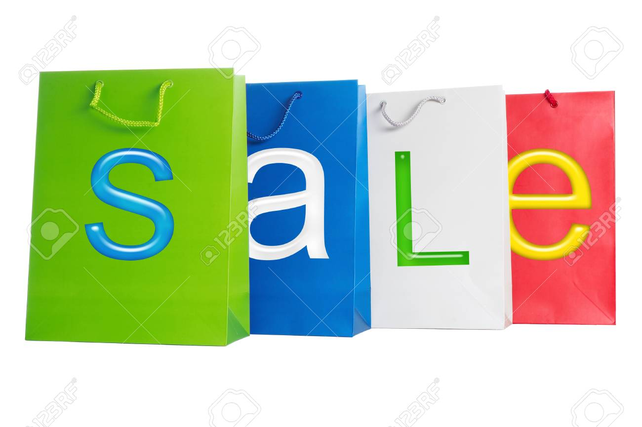 Bags for purchases on a white background. Stock Photo - 1510804