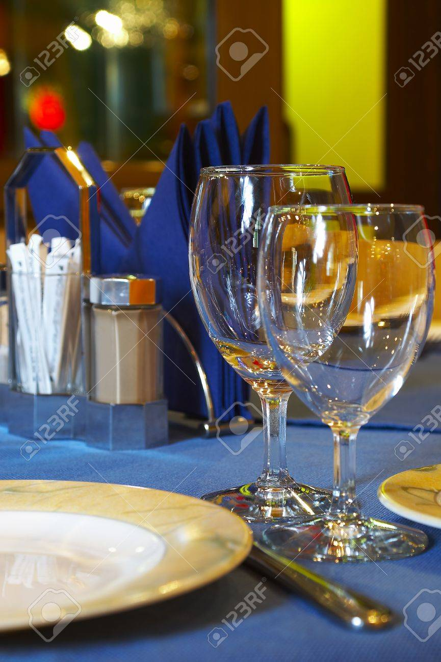 The served table at restaurant ... Stock Photo - 1551881