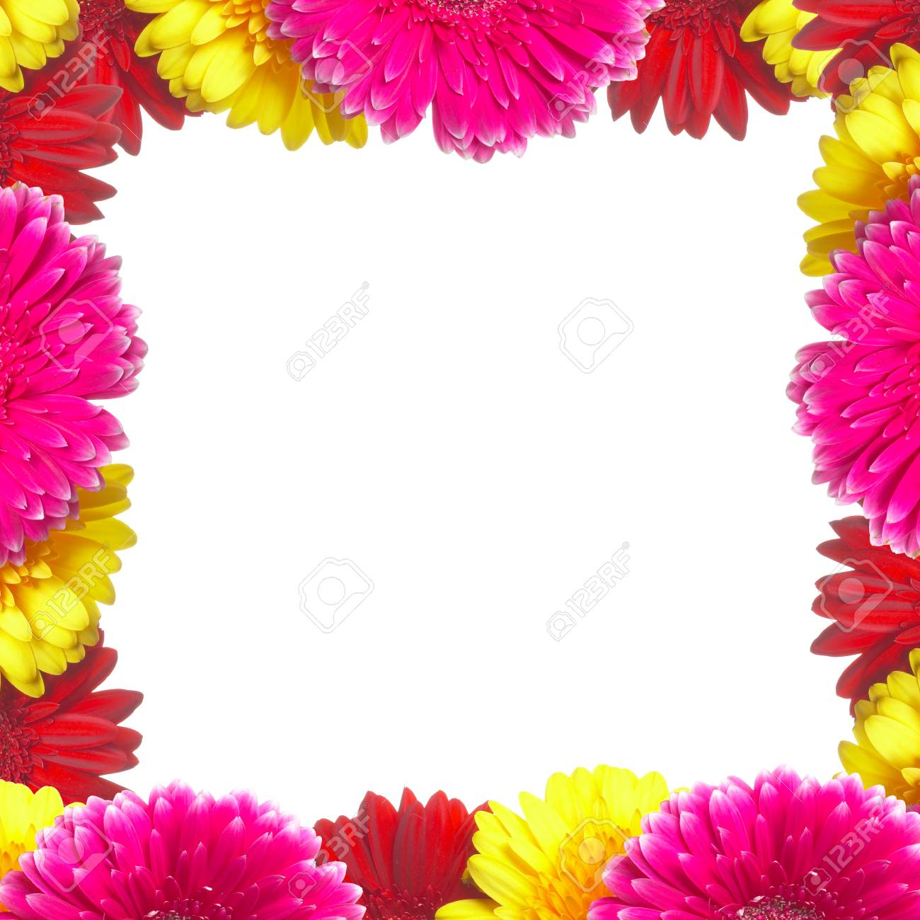 Framework from colors gerbers on a white background Stock Photo - 1612844