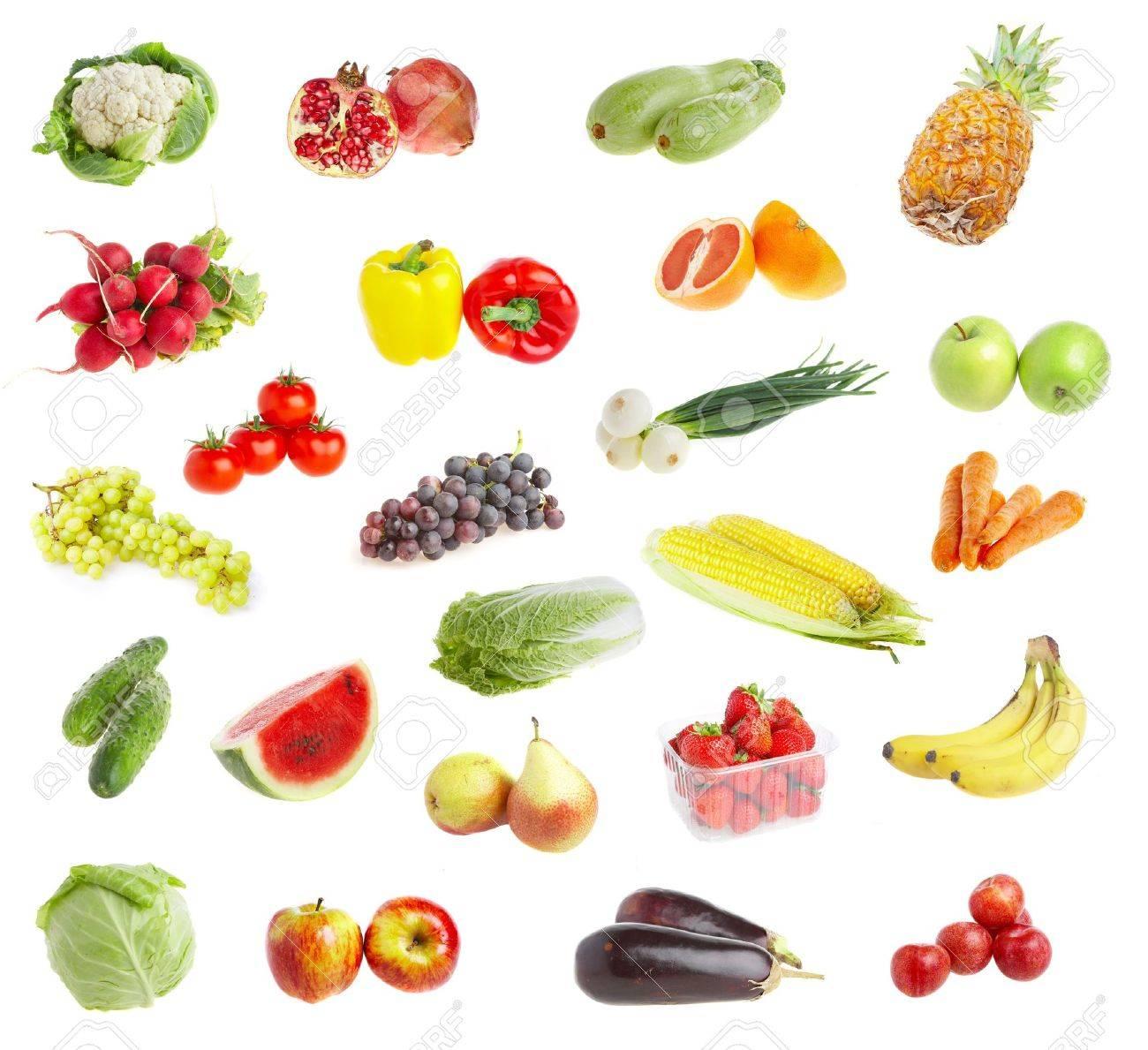 Ripe freshs fruit andvegetables. Wholesome food. Stock Photo - 2362135