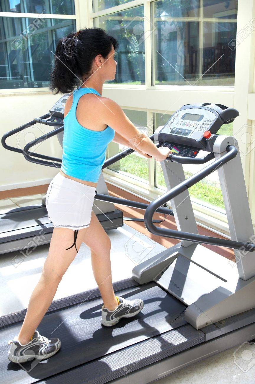 The girl in gym. Fitness... Stock Photo - 3357282