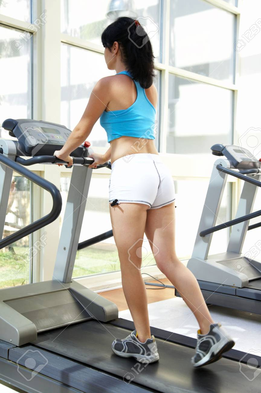 The girl in gym. Fitness... Stock Photo - 3357269