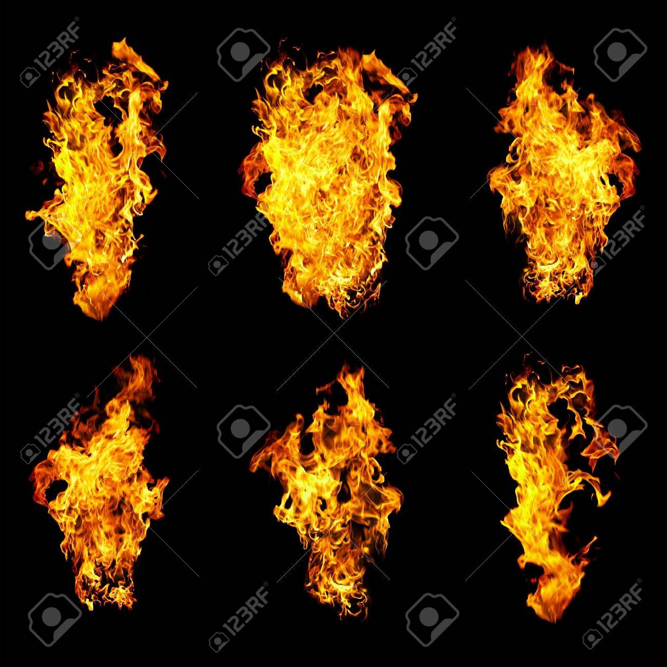 Fire photo on a black background ... Stock Photo - 3582485
