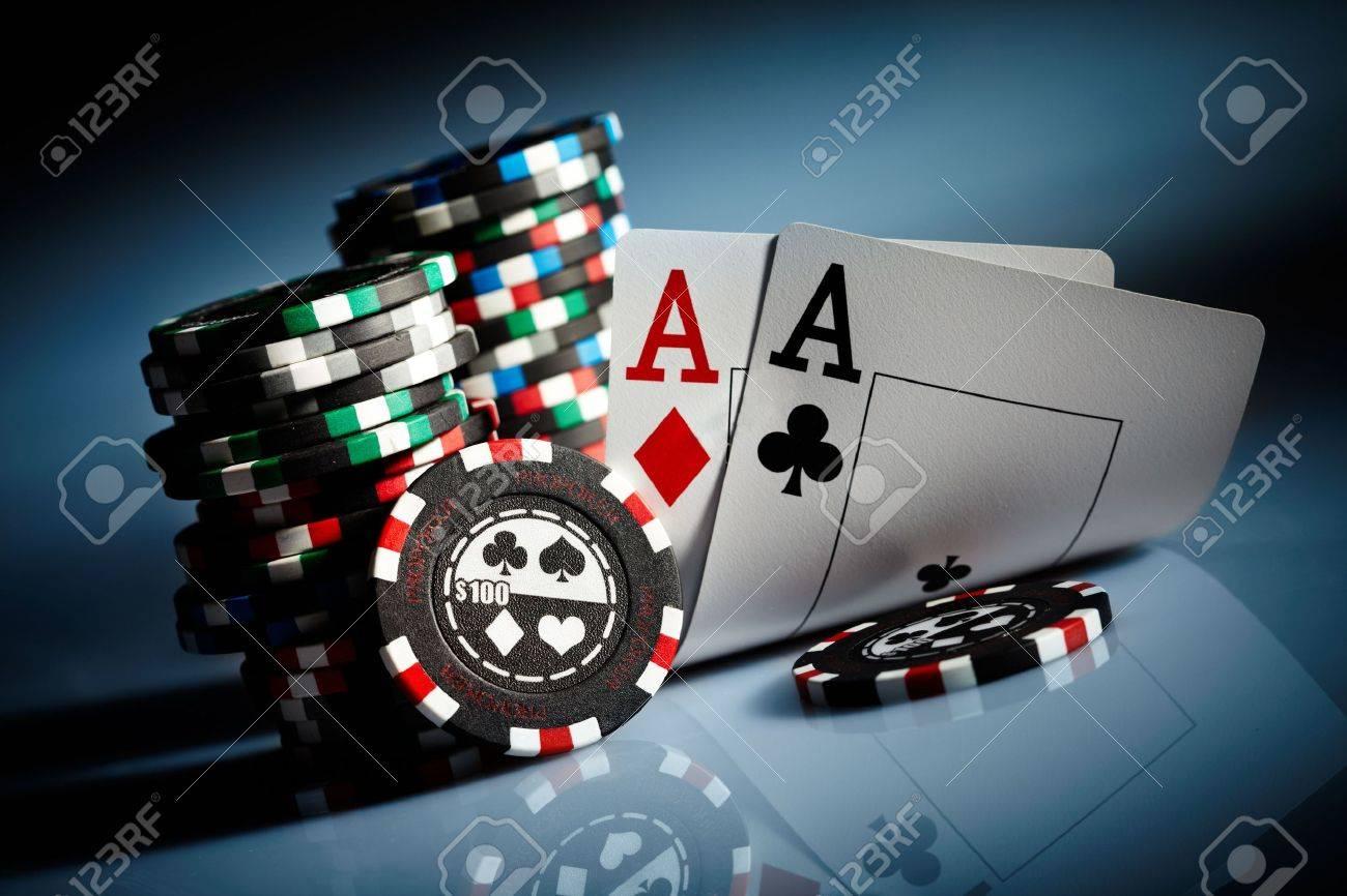 Photo gambling chips on the dark Stock Photo - 5512885